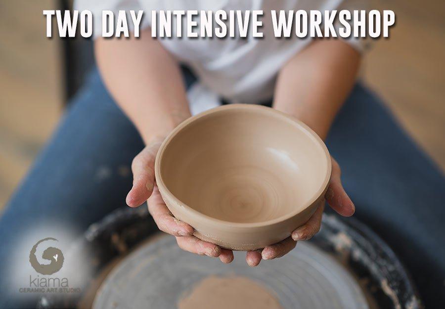 two day pottery workshops kiama ceramic art studio